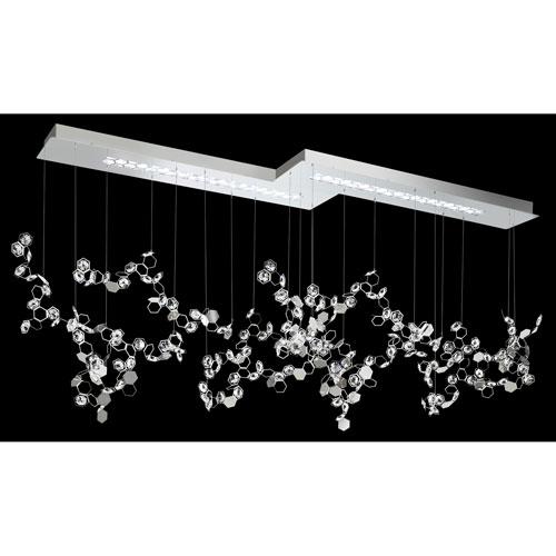 Swarovski Crystalon Stainless Steel Six-Light LED Pendant with Clear Swarovski Crystals