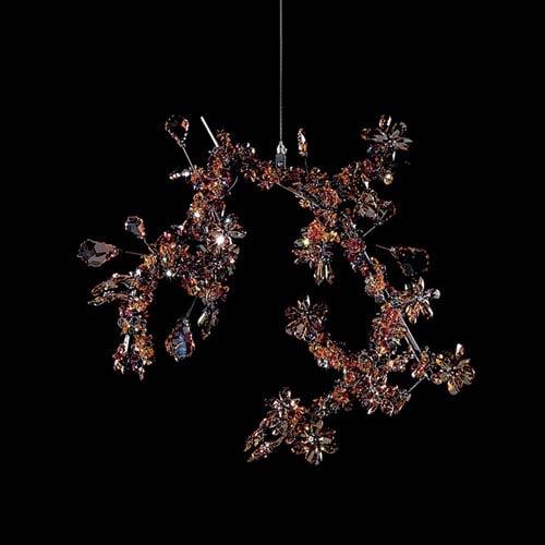 Swarovski Blossom Crystal Hanging Sculpture with Autumn Swarovski Crystals