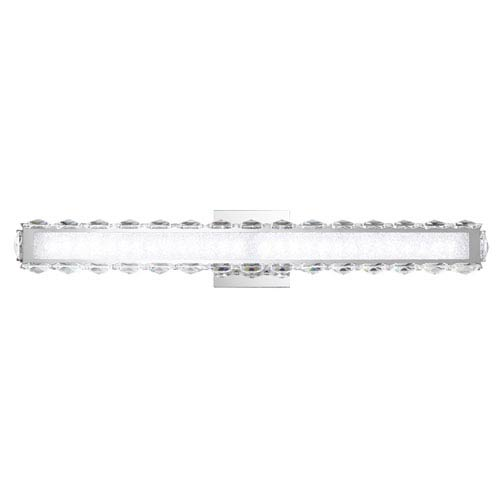 Dionia Stainless Steel 3000K LED Wall Sconce with Clear Swarovski Crystals