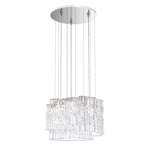 Selene Stainless Steel 18-Inch 3000K LED Pendant with Clear Spectra Crystal