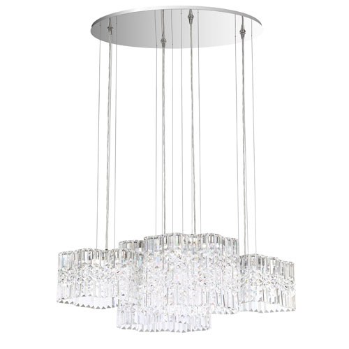 Selene Stainless Steel 37-Inch 4000K LED Pendant with Clear Spectra Crystal