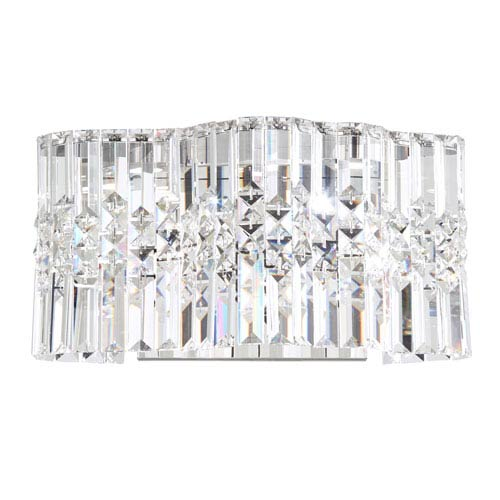 Swarovski Selene Stainless Steel LED Wall Sconce with Clear Spectra Crystal