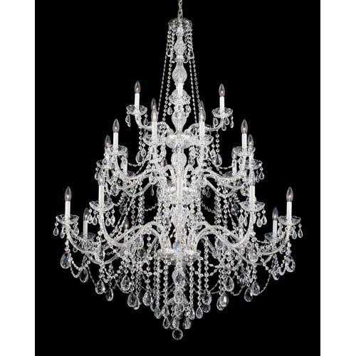 Arlington Silver 25-Light Clear Heritage Handcut Crystal Chandelier, 44.5W x 64H x 44.5D