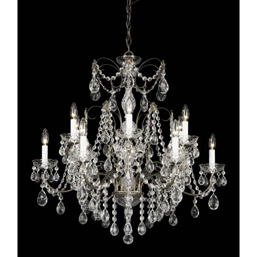 Schonbek  Madison Etruscan Gold 12-Light Clear Heritage Handcut Crystal Chandelier, 30W x 30H x 30D