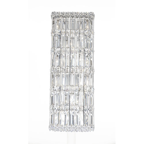 Schonbek  Quantum Stainless Steel 10-Light Clear Spectra Crystal Wall Sconce, 9W x 25H x 9D