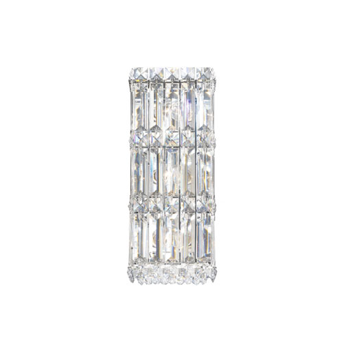 Schonbek  Quantum Stainless Steel Three-Light Clear Spectra Crystal Wall Sconce, 5.5W x 13H x 5.5D