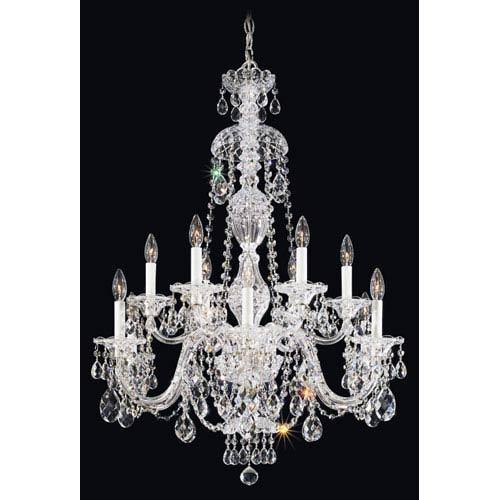 Schonbek  Sterling Silver 12-Light Clear Heritage Handcut Crystal  Chandelier, 29W x 38H x 29D