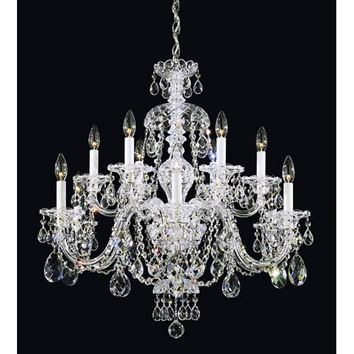 Schonbek  Sterling Silver 12-Light Clear Heritage Handcut Crystal  Chandelier, 29W x 30H x 29D