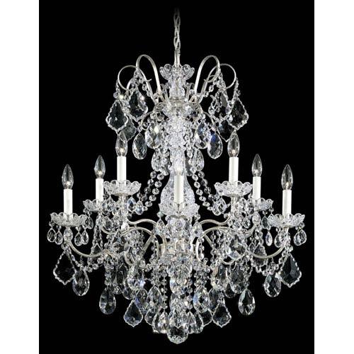 Antique schonbek crystal chandelier bellacor schonbek new orleans antique silver 10 light clear heritage handcut crystal chandelier 28w x aloadofball Choice Image