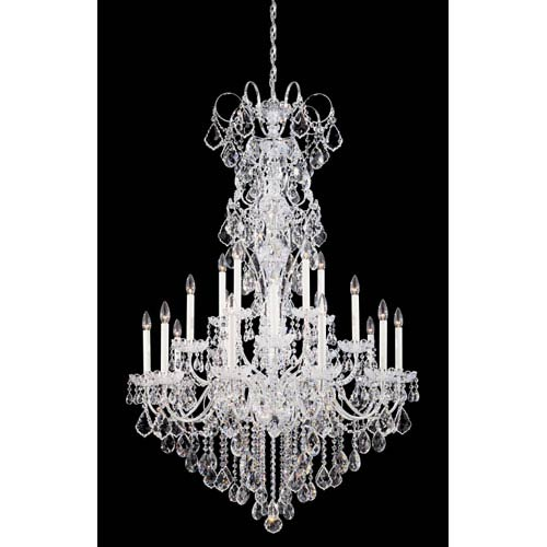 Schonbek  New Orleans Silver 20-Light Clear Heritage Handcut Crystal Chandelier, 36W x 56H x 36D