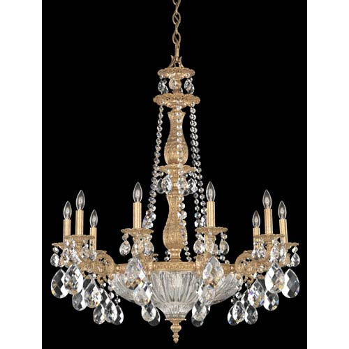 Schonbek  Milano French Gold 14-Light Clear Optic Handcut Crystal Chandelier, 30W x 36H x 30D