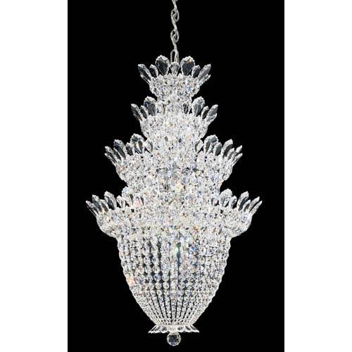 Schonbek  Trilliane Silver 24-Light Crystal Swarovski Strass Pendant, 24W x 38H x 24D