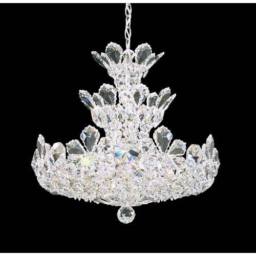 Schonbek  Trilliane Silver 15-Light Crystal Swarovski Strass Pendant, 20W x 19H x 20D