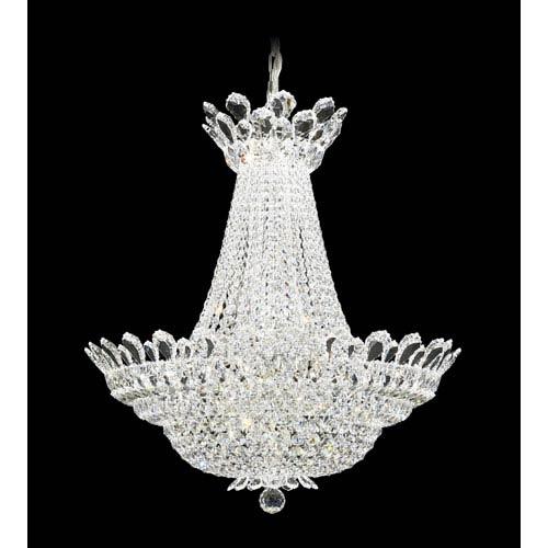 Schonbek  Trilliane Silver 40-Light Crystal Swarovski Strass Pendant, 28W x 30H x 28D