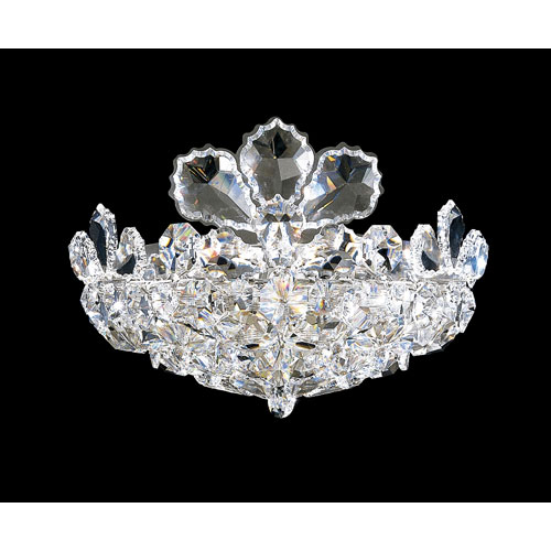 Trilliane Silver Two-Light Crystal Swarovski Strass Wall Sconce, 11W x 8.5H x 11D