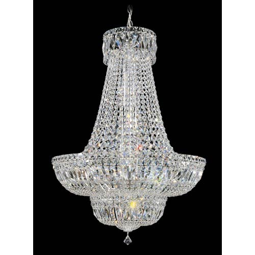 Schonbek  Petit Crystal Deluxe Silver 23-Light Clear Spectra Crystal Pendant, 24W x 34H x 24D