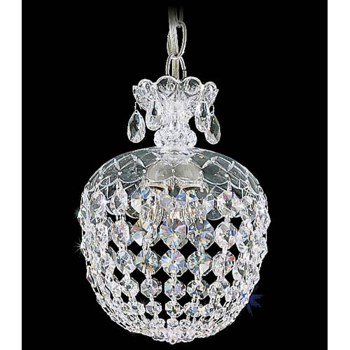 Olde World Silver Three-Light Crystal Swarovski Strass Pendant Light, 8W x 12H x 8D