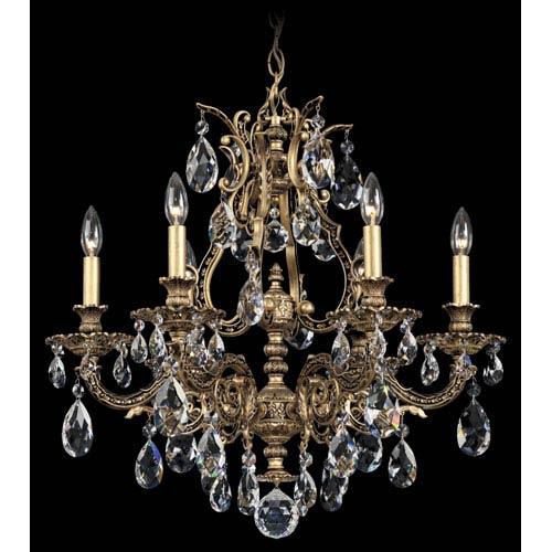 Schonbek  Sophia Florentine Bronze Six-Light Clear Spectra Crystal Chandelier, 24W x 24.5H x 24D