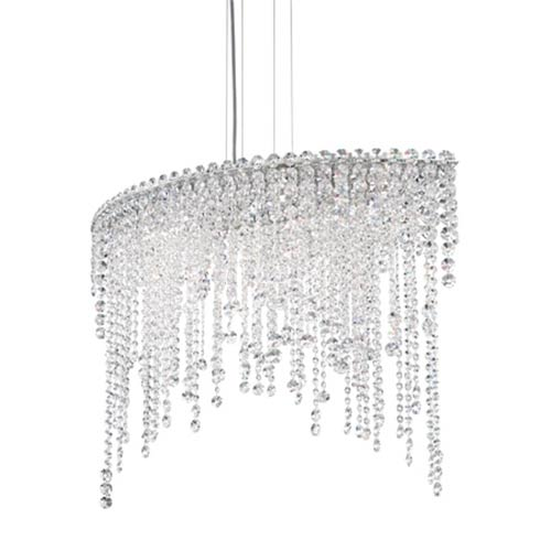 Schonbek  Chantant Stainless Steel Six-Light Eye Medium Pendant with Clear Heritage Crystal