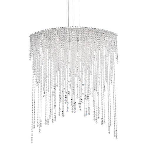 Schonbek  Chantant Stainless Steel Eight-Light Eye Long Pendant with Clear Heritage Crystal