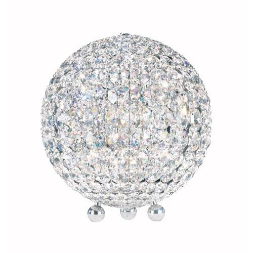 Schonbek  Da Vinci Stainless Steel Six-Light Clear Spectra Crystal Table Lamp, 10W x 11.5H x 10D