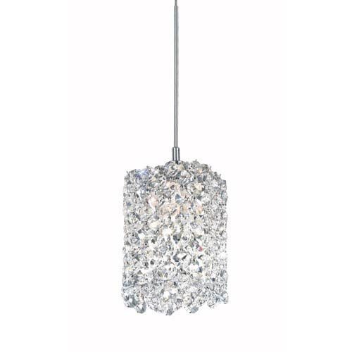 Refrax Stainless Steel One-Light Clear Spectra Crystal Pendant Light, 4W x 5H x 4D