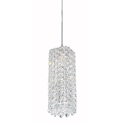 Schonbek  Refrax Stainless Steel One-Light Clear Spectra Crystal Pendant Light, 4W x 9H x 4D