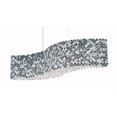 Refrax Stainless Steel 13-Light Azurite Swarovski Strass Pendant Light, 32W x 8H x 32D