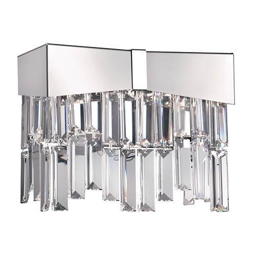 Riviera Stainless Steel Two-Light Wall Sconce with Clear Spectra Crystal