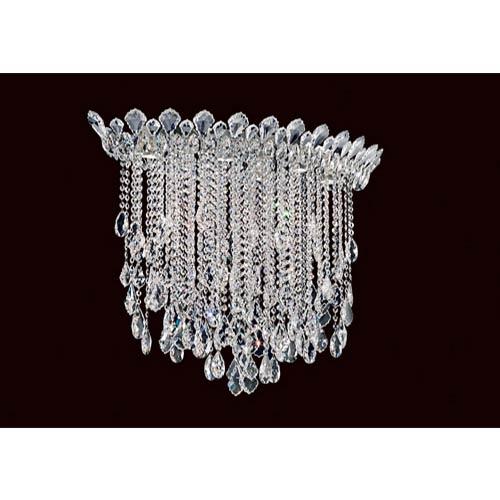 Schonbek  Trilliane Strands Stainless Steel Six-Light Eye Medium Flush Mount with Clear Heritage Crystal