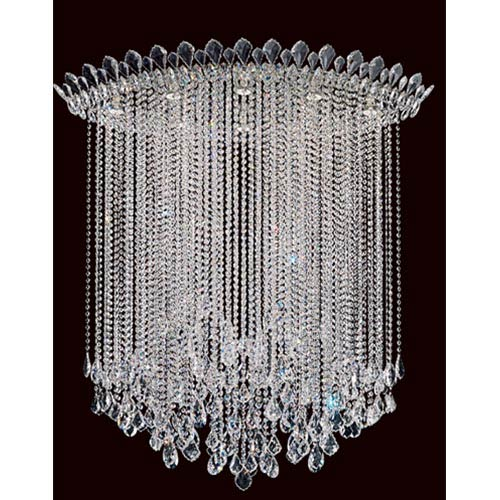 Schonbek  Trilliane Strands Stainless Steel Eight-Light Eye Long Flush Mount with Clear Heritage Crystal