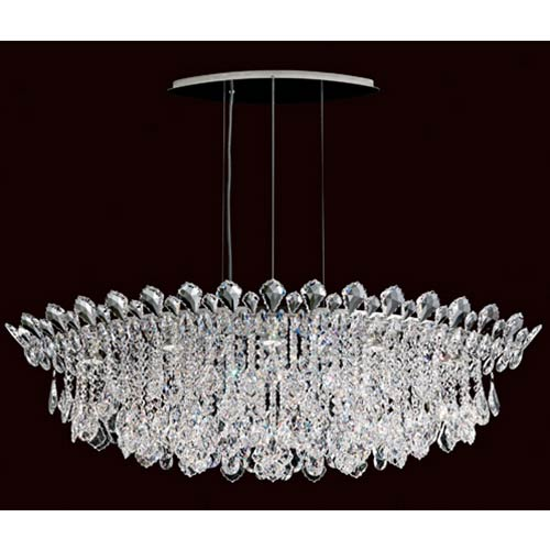 Schonbek  Trilliane Strands Stainless Steel Eight-Light Eye Short Pendant with Clear Heritage Crystal