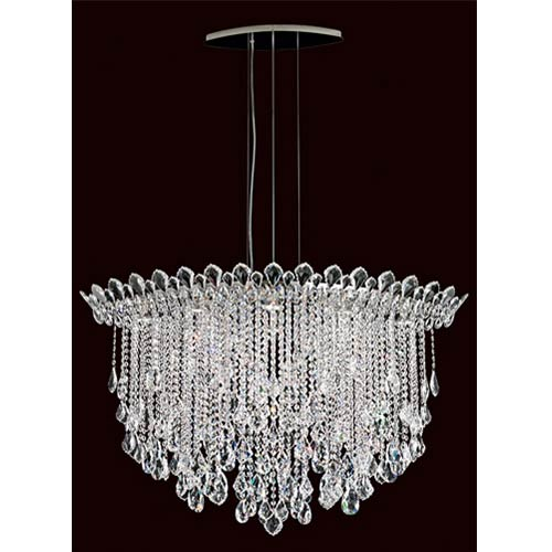 Schonbek  Trilliane Strands Stainless Steel Eight-Light Eye Medium Pendant with Clear Heritage Crystal