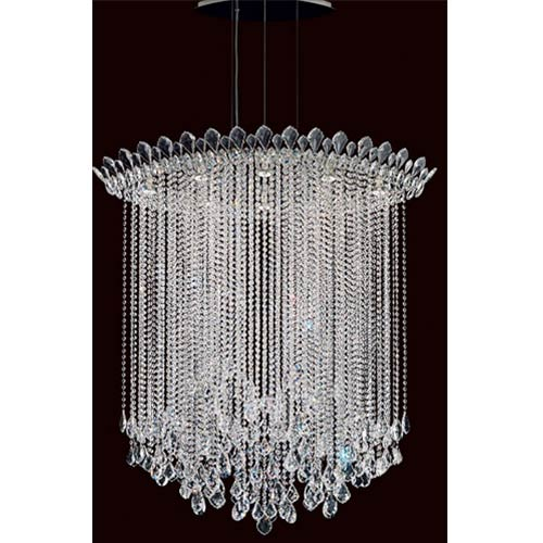 Schonbek  Trilliane Strands Stainless Steel Eight-Light Eye Long Pendant with Clear Heritage Crystal
