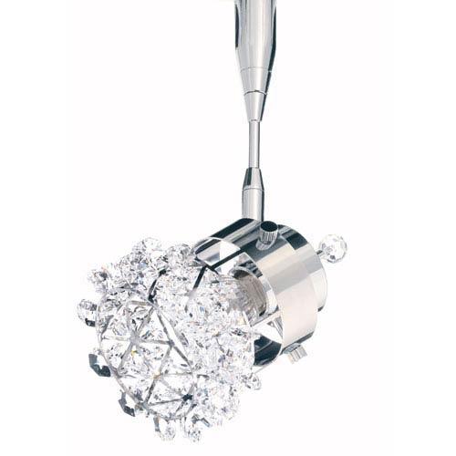 Vertex Stainless Steel One-Light Crystal Swarovski Strass Spotlight, 3W x 4H x 3D