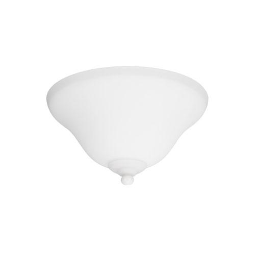 Satin White Energy Star Two-Light LED Ceiling Fan Light Kit