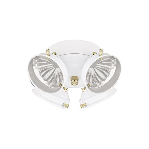 White Seven-Inch Four-Light Light Kit