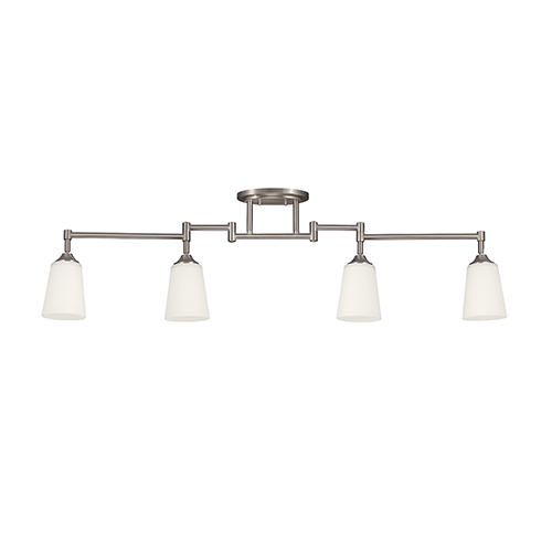 Sea Gull Lighting Track Lighting Brushed Nickel Five-Inch Four-Light Track Light
