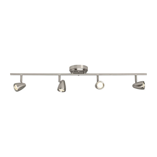 Talida Brushed Nickel Four-Light LED Track Fixture Energy Star/Title 24