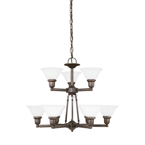 Sea Gull Lighting Sussex Heirloom Bronze Energy Star Nine-Light LED Chandelier