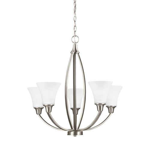 Sea Gull Lighting Metcalf Brushed Nickel Energy Star Five-Light LED Chandelier