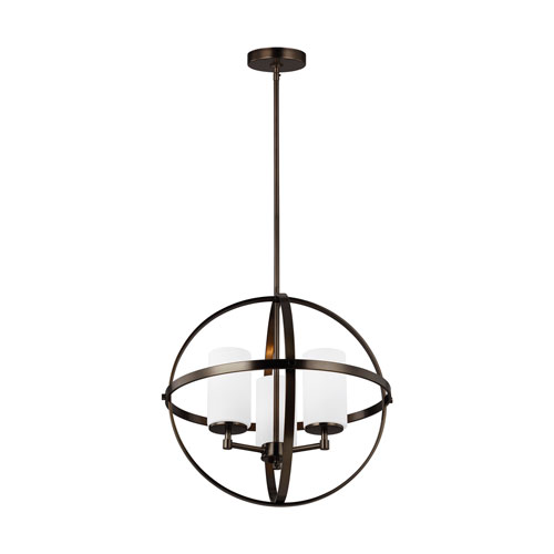 Alturas Oil Rubbed Bronze Three-Light Chandelier Energy Star/Title 24