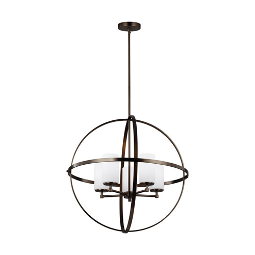 Alturas Oil Rubbed Bronze Five-Light Chandelier Energy Star/Title 24