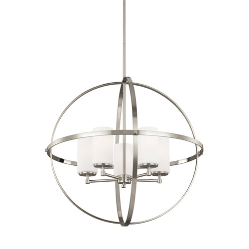 Alturas Brushed Nickel Energy Star Five-Light LED Chandelier