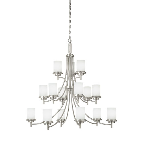 Winnetka Brushed Nickel Energy Star 15-Light LED Chandelier