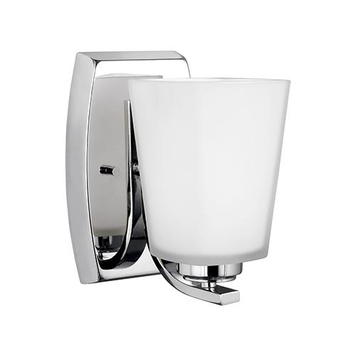 Waseca Chrome Five-Inch One-Light Bath Sconce