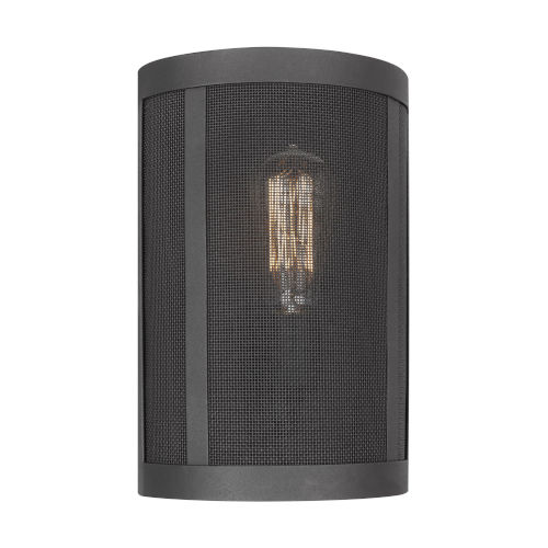 Gereon Black Mesh LED Wall Bath Sconce
