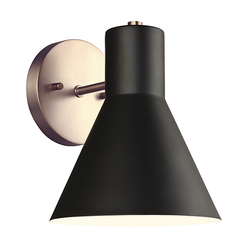 Towner Satin Brass Seven-Inch One-Light Bath Sconce