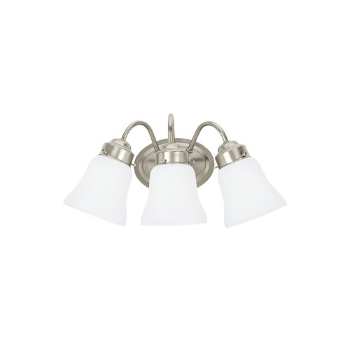 Sea Gull Lighting Westmont Brushed Nickel Energy Star Three-Light LED Bath Vanity