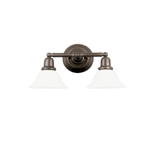 Sussex Heirloom Bronze Energy Star Two-Light LED Bath Vanity